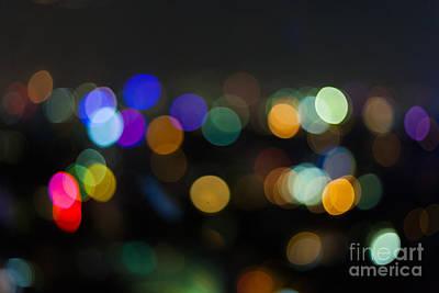 Photograph - Defocused Lights by Fototrav Print