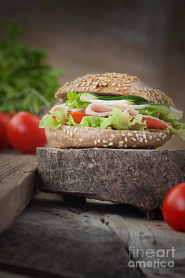 Delicious Sandwich Print by Mythja  Photography