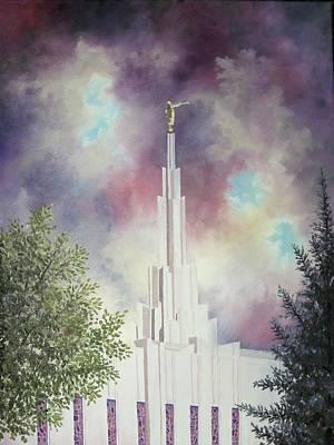 Denver Temple Original by Amber Whiting Bradley