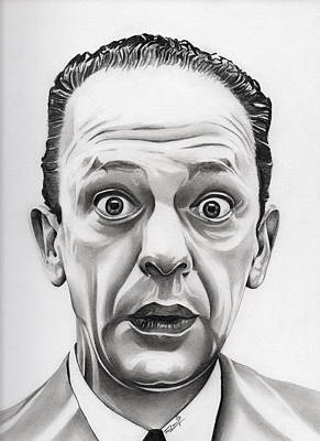 Don Knotts Drawing - Deputy Barney Fife by Fred Larucci