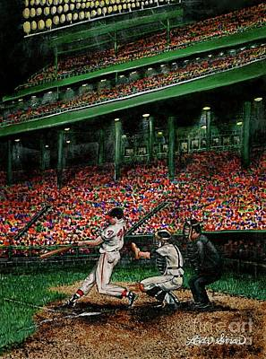 Painting - Derrek's Homerun by Linda Simon