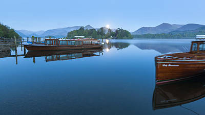 Boats In Reflecting Water Photograph - Derwent Water by Sebastian Wasek