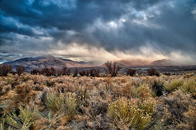 Mountain Royalty-Free and Rights-Managed Images - Desert Storm by Cat Connor