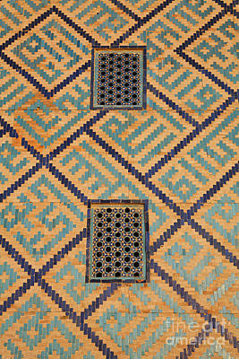 Central Asia Photograph - Detail Of The Registan At Samarkand In Uzbekistan by Robert Preston