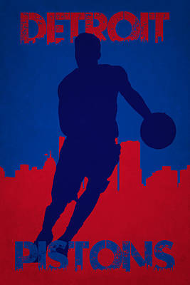 Detroit Pistons Art Print by Joe Hamilton