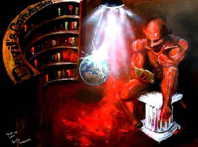 Fiend Digital Art - Devil's Conversion by Marcello Cicchini