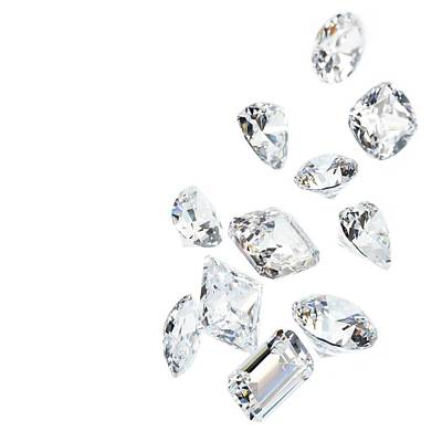 Eleven Photograph - Diamonds by Science Photo Library