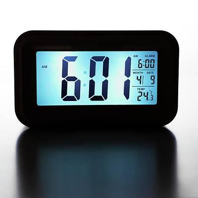 Alarm Clock Photograph - Digital Alarm Clock by Science Photo Library