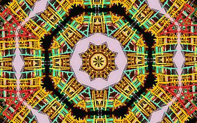 Digital  Kaleidoscope Art Print by Jean Schweitzer