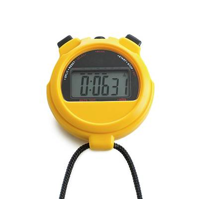Digital Stopwatch Art Print by Science Photo Library