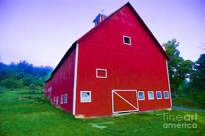 Photograph - Digitally Enhanced Red Barn. by Don Landwehrle