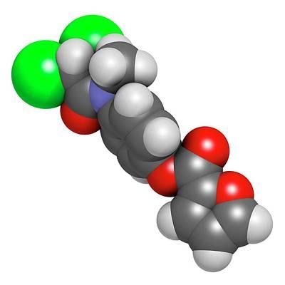 Diloxanide Furoate Amoebiasis Drug Art Print by Molekuul