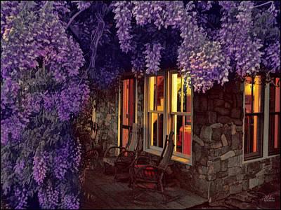 Beneath The Wisteria Art Print by Douglas MooreZart