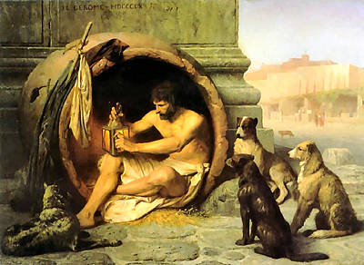 Diogenes Painting - Diogenes by Jean Leon Gerome
