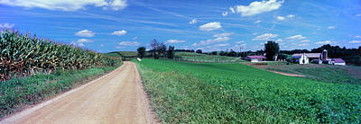 Dirt Roads Photograph - Dirt Road Passing Through A Field by Panoramic Images