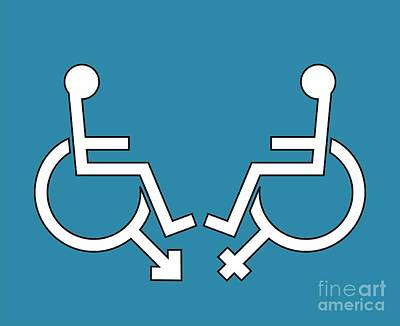 Disability Sexuality, Conceptual Artwork Art Print by Stephen Wood