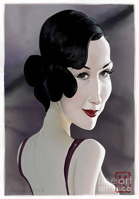 Digital Art Digital Art Drawing - Dita Von Teese by Andre Koekemoer