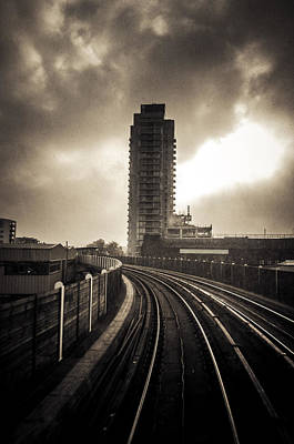 Photograph - Dlr Ride To Deptford by Lenny Carter