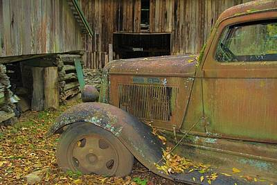 Dodge In The Country Fall Colors Art Print by Dan Sproul