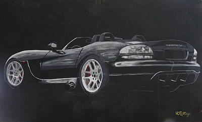 Painting - Dodge Viper Convertible by Richard Le Page