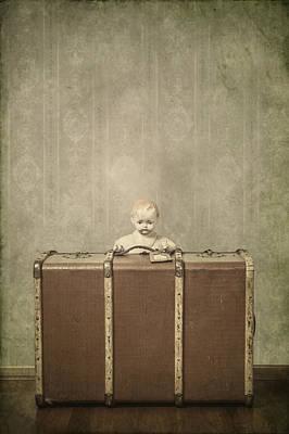 Doll In Suitcase Art Print by Joana Kruse