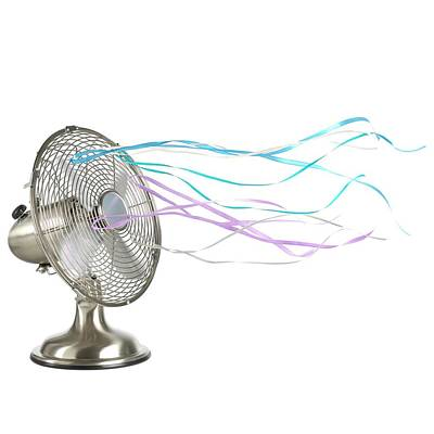 Domestic Fan Showing Air Movement Art Print by Science Photo Library