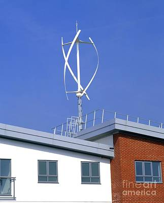 Domestic Micro Wind Turbine Art Print by Martin Bond