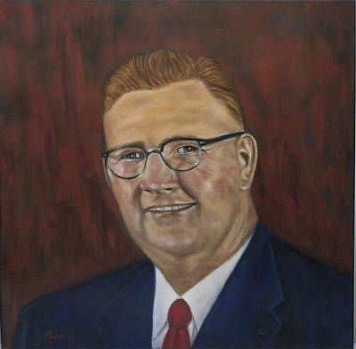 Painting - Donald G. Bollinger by Bruce Ben Pope