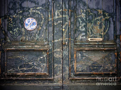 Traffic Signs Photograph - Door With Peeling Paint by Bernard Jaubert
