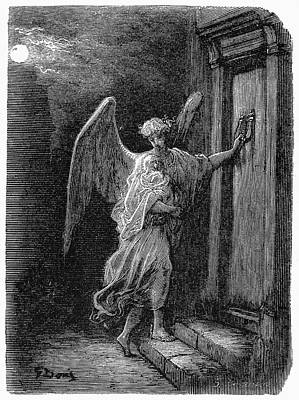 Night Angel Painting - Dor� London 1873 by Granger