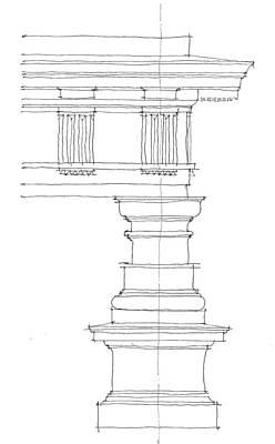 Vitruvius Drawing - Doric Order by Calvin Durham