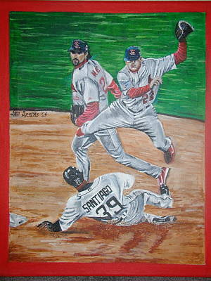 Painting - Double Play by Jen Sparks
