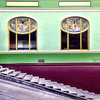 Green Photograph - Double Window by Julie Gebhardt