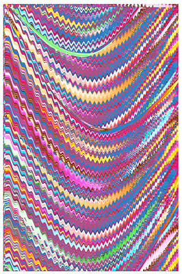 Royalty Free Images Mixed Media - Download Waves Artist Created Textures Patterns Colorful Images For Personal Use Or Commercial Use R by Navin Joshi