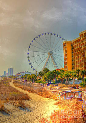 Photograph - Downtown Myrtle Beach by Kathy Baccari