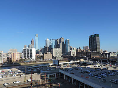 Skyline Photograph - Downtown Philadelphia by Cityscape Photography