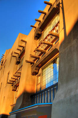 Downtown Santa Fe Art Print