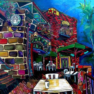 Downtown Starbucks Print by Patti Schermerhorn