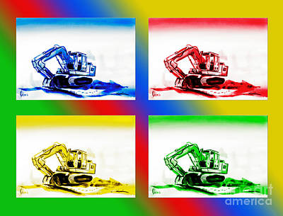 Special Occasion Painting - Dozer Mania II by Kip DeVore