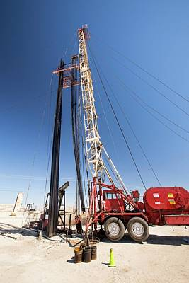 Oilfield Photograph - Drilling For Oil by Ashley Cooper