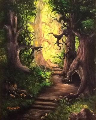 Art Print featuring the painting Druid Forest by Megan Walsh