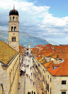 Stone Buildings Photograph - Dubrovnik by Douglas J Fisher