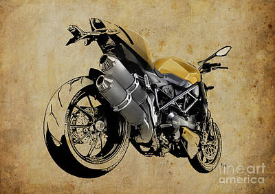 Digital Art - Ducati Streetfighter 848 2012 by Pablo Franchi