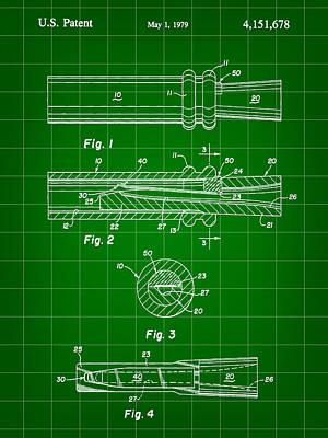 Duck Call Patent 1979 - Green Art Print