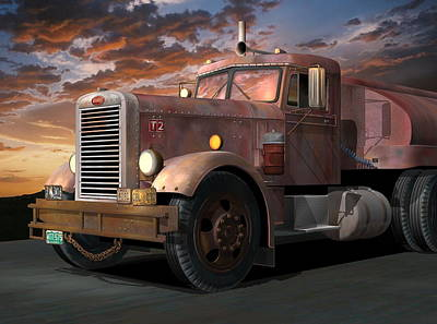 Digital Art - Duel Truck by Stuart Swartz