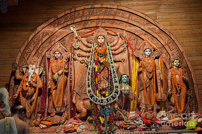 Hindu Goddess Photograph - Durga Puja Festival by Rudra Narayan  Mitra