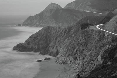 Coast Highway One Photograph - Dusk Highway 1 Pacific Coast Ca Usa by Panoramic Images