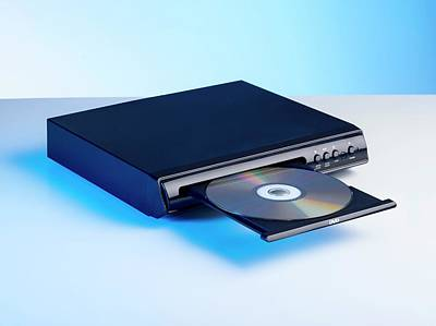 Versatile Photograph - Dvd Player by Science Photo Library