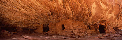 Anasazi Photograph - Dwelling Structures On A Cliff, House by Panoramic Images