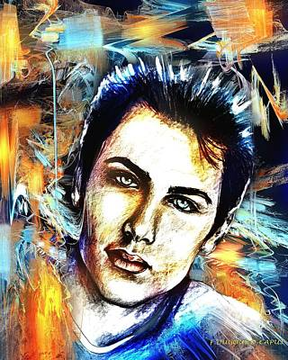 Abstract Digital Mixed Media - Dylan by Francoise Dugourd-Caput